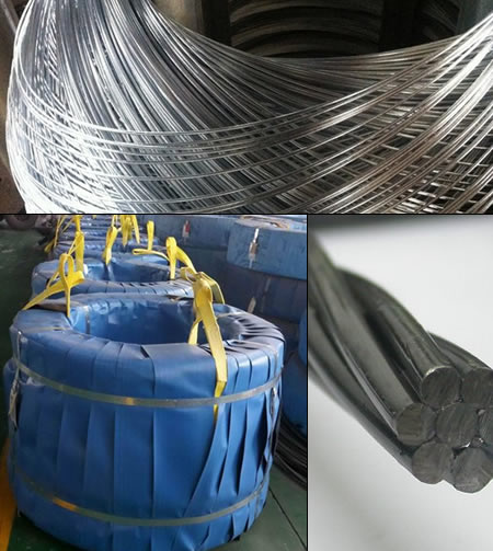 Stranded Wire 1x7 Structure with High Strength, Diameter 15.20mm